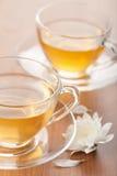 Kop van groene thee en bloem Royalty-vrije Stock Fotografie