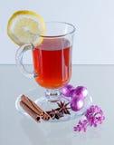 Kop van groene thee met kaneel en kruiden Met citroen Royalty-vrije Stock Fotografie