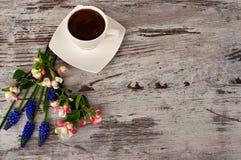 Kop van heerlijke koffie Stock Foto