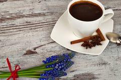 Kop van heerlijke koffie Stock Foto's