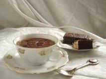 Kop van hete chocolade stock foto