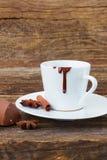 Kop van hete chocolade Stock Fotografie