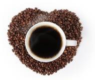 Kop van hete koffie Royalty-vrije Stock Afbeeldingen