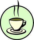 Kop van hete koffie stock illustratie