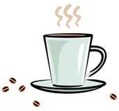 Kop van hete koffie (Vector) Royalty-vrije Stock Fotografie