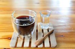 Kop van hete zwarte koffie Royalty-vrije Stock Foto