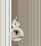 Kop van koffie stock illustratie