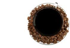 Kop van koffie stock foto's