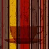 Kop van koffie, abstracte achtergrond royalty-vrije illustratie