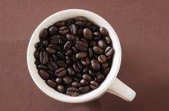 Kop van koffie (bonen) Royalty-vrije Stock Foto's