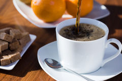 Kop van koffie in de ochtend Royalty-vrije Stock Afbeelding
