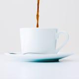 Kop van koffie in de ochtend royalty-vrije stock foto's
