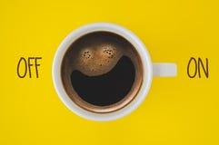 Kop van koffie dichte omhooggaand Royalty-vrije Stock Afbeelding