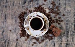 Kop van koffie en chocolade Royalty-vrije Stock Afbeelding