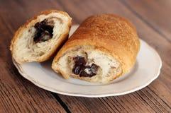 Kop van koffie en croissant Stock Fotografie
