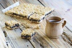 Kop van koffie en eigengemaakte pastei Royalty-vrije Stock Fotografie