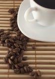 Kop van koffie en zaad Royalty-vrije Stock Afbeeldingen