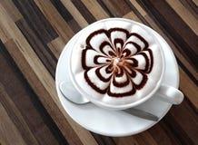 Kop van koffie latte Stock Foto
