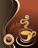 Kop van koffie met abstracte achtergrond Stock Afbeelding