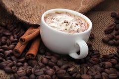 Kop van koffie met kaneel Royalty-vrije Stock Afbeelding