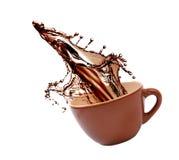 De plons van de koffie Stock Afbeeldingen