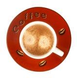 Kop van koffie met schuim Stock Foto