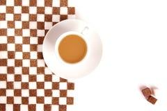 Kop van koffie met suiker. royalty-vrije stock afbeeldingen