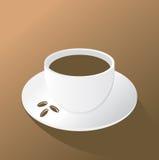 Kop van koffie op de bruine achtergrond Royalty-vrije Stock Foto's