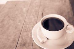 Kop van koffie op de lijst Royalty-vrije Stock Foto