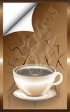Kop van koffie op de straat Stock Foto's