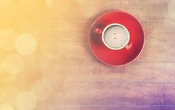 Kop van koffie op een houten lijst Royalty-vrije Stock Foto
