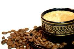 Kop van koffie op een wit Royalty-vrije Stock Fotografie
