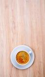 Kop van koffie op houten lijst Royalty-vrije Stock Foto