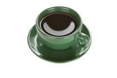 Kop van koffie op wit Stock Afbeeldingen