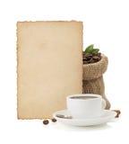 Kop van koffie op wit Stock Fotografie