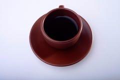 Kop van koffie op witte achtergrond Royalty-vrije Stock Afbeeldingen
