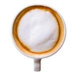 Kop van koffie op witte cliping weg wordt geïsoleerd die als achtergrond Stock Afbeeldingen