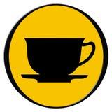 Kop van koffie - pictogram Royalty-vrije Stock Afbeeldingen