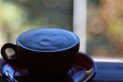 Kop van koffie, schuim op koffie Stock Foto's