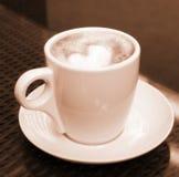 Kop van koffie - sepia Royalty-vrije Stock Afbeeldingen