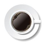 Kop van koffie. Vector Royalty-vrije Stock Afbeeldingen