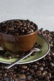 Kop van koffieboon stock afbeelding
