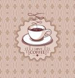 Kop van koffieillustratie Royalty-vrije Stock Foto