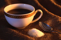 Kop van koffiestilleven Stock Fotografie