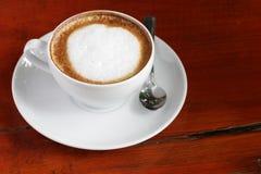 Kop van lattekoffie Stock Foto's