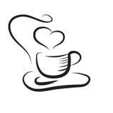 Kop van soffee stock illustratie