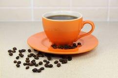 Kop van sterke koffie Royalty-vrije Stock Afbeelding