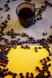 Kop van verse koffie Stock Foto
