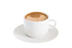 Kop van Witte Koffie Stock Afbeeldingen
