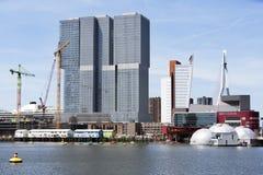 Kop van Zuid district in Rotterdam Stock Afbeelding